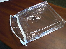 10 Clear Plastic Vinyl Zipper Bags Quilt Blanket Storage Shirt 9.5 x 11.5 x 2
