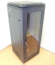 """19"""" 28U Server Cabinet Rack, Armadietto Acciaio con ventilatore Cremagliera nero"""