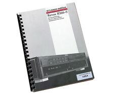 Revox B260-S FM Tuner Original Service Anleitung...