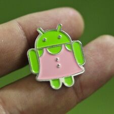 Google Badge Android Pin Brooch Jewelry Dress Pink Metal Toy Collection US SHIP