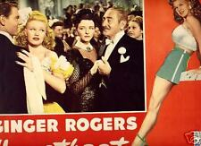 Lobby Card 1946 HEARTBEAT  Ginger Rogers dancing CU