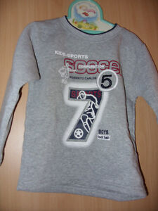 Langarmshirt  Sweatshirt  Gr. 86 - 92    hellgrau mit Motiv   Neu   LS / 36
