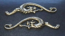'GOLD' SERPENT / DRAGON SNAKE MENUKI: Decoration for Japanese Samurai Sword