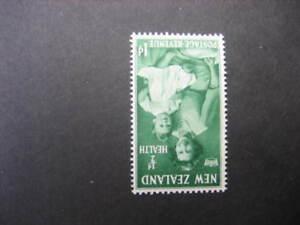 NEW ZEALAND 1950 HEALTH 1d+1/2d INVERTED WMK. NHM SG701w