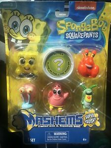 SPONGEBOB SQUAREPANTS  - BONUS PACK 6 MASH'EMS SERIES 3- MASHEMS  W/ GLOW - NEW