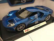 1:18 Maisto Escala Ford GT 2017-Azul-Edición Especial Coche Modelo Diecast