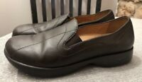 Womens DANSKO Brown leather Slip On loafers flats Sz 38 US 7.5
