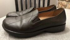 Womens DANSKO Brown leather Slip On loafers flats Sz 38 US 7.5