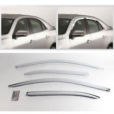 2012+ Malibu Chrome Sun Shade Rain Guard Door Window Visor Trim K-735