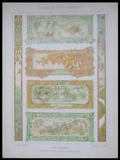 RENE BEAUCLAIR, PANNEAUX ART NOUVEAU -1898- LITHOGRAPHIE, SAISONS, FLEURS, FRUIT