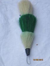 Welsh Guards Bearskin Plumes,Garde Federbusch Bärenfellmütze,weiß/grün/weiß,gebr