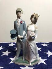 Vintage Lladro - Bride and Groom Figurine slender Daisa 1982 made in spain