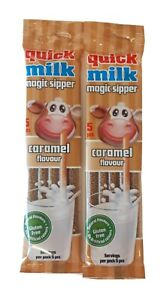 Quick Milk Magic Straw Sippers -CARAMEL FLAVOUR (2x5) 10 Straws in total