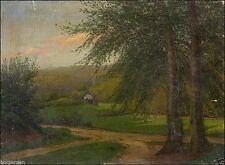 1900-1949 Original-der-Zeit Originalgemälde (1800-1899) auf Landschaft & Stadt