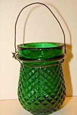 Antique Victorian Christmas Illumination Fairy Lamp Forest Green Diamond Pattern