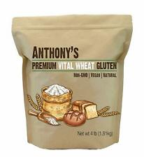 Anthony's Vital Wheat Gluten, High Protein, Vegan, Non GMO, Keto Friendly (4 lb)