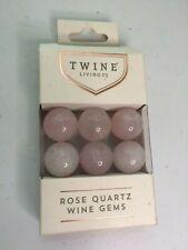 Twine Living Co Rose Quartz Wine Gems - New Open Box