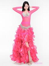 Belly Dance Costume 4 Pics Full Set Blouse Top&Bra&Belt&Skirt 34B/C 36B/C 38B/C