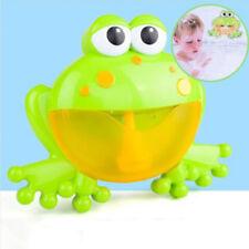 Bubble machine big frog automatic bubble maker blower music bath toys for babyST