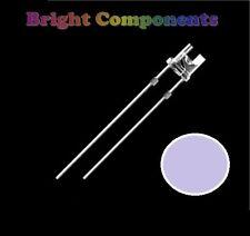 10 x Purple/UV LED 3mm Flat Top - Ultra Bright (500mcd) - UK - 1st CLASS POST