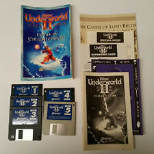 "Ultima Underworld II Labyrinth of Worlds - 5 3.5"" Floppy Disks with Clue Book"