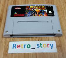 Super Nintendo SNES Wolverine Adamantium Rage PAL