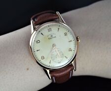 Vintage Men's Grand Prix 18K Rose Gold 36.5mm Non Magnetic Hand Winding Watch