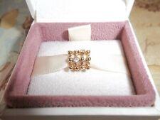 Genuine Authentic Pandora 14ct Gold & Diamond Beautiful Catch Charm 750313D
