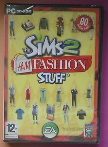 THE SIMS 2 H&M FASHION STUFF PC CD-ROM ADD-ON PACK BRAND NEW & SEALED UK !