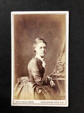 Victorian Carte De Visite CDV: Lady: Rees & Co: London: Mantle Clock