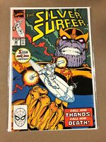 Marvel Comics Silver Surfer #34 Thanos Returns! App By Death Jim Starlin 1990 NM