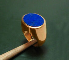 Alter 750er Gold HERREN-SIEGELRING m. LAPISLAZULI • 9,9 g • Handarbeit