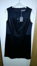 New + tags Oasis sz10 faux leather & suede black dress fully lined