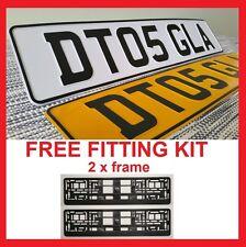 SONATA - Car Pair Metal Aluminium Number Plates Pressed Embossed 100% Road Legal