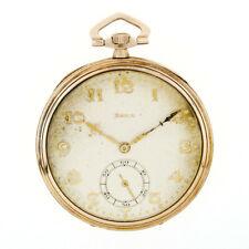 Antik Doxa Hand Gewunden Mechanische Taschenuhr in Dünn 48.3mm 14k Gold Gehäuse