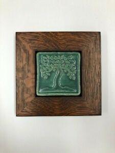 Pewabic Pottery Botanical Tree Art Tile Arts & Crafts Mission Oak Park Frame