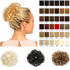 Hair Scrunchie Wrap Curly Wavy Messy Bun Updo Hairpiece Extension