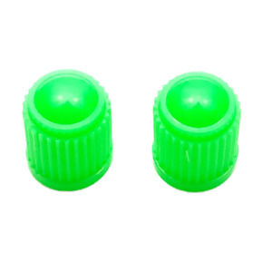 2x Lime Green Plastic valve tyre Dust Caps Cover for Bikes, BMX bikes, Motorbike