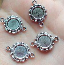 10 pcs Tibetan Style Cabochon Setting  Blanks 23x15mm jewellery making