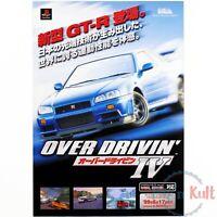 Flyer Over Drivin' IV Chirashi Handbill A4 Sony Playstation PS1 [JAP] Promo VGC