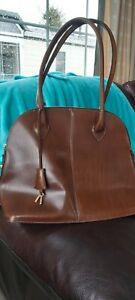 Ladies Brown Tote Handbag Equestrian