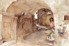 William Russell Flint ANTOINETTE'S ALLEY VAUGELAS Art