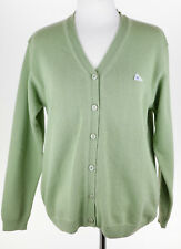 Monte Carlo Womens Green Button Down Wool Knit Cardigan Size Small 42 EUC E632
