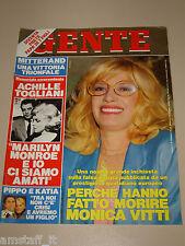 GENTE=1988/20=MONICA VITTI=LAURA BIAGIOTTI=MARIA DEL CARMEN SAN MARTIN=LANZA M.