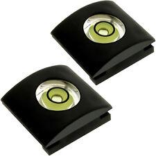 2x Protección Hot Shoe Zapata Flash con Nivel Burbuja para Cámaras Réflex DSLR
