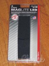 Maglite AA LED Holster BLACK Nylon Minimag-lite mag-light Maglight AP2X136F