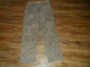 Men's MERONA Pleated & Cuffed Pants 34 x 34 100% Cotton