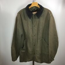 3e2a6c43bfdc3 WOOLRICH Vtg Mens Barn Chore Coat Large Wool Removable Lining Indian Head  Snaps