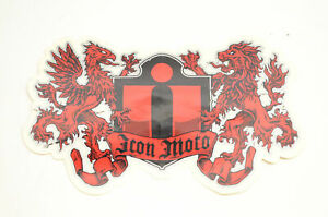 """Icon Motorsports Icon Moto Griffin Lion Decal Approximate 6""""x4"""". NOS"""