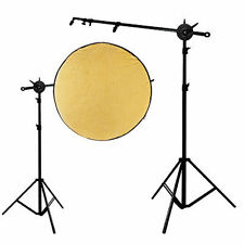 Photography 8.5Ft Reflector Panel Holder Stand Arm Bar Disc Grip Video Photo Kit